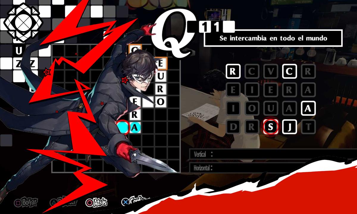 Persona 5 Royal crucigramas