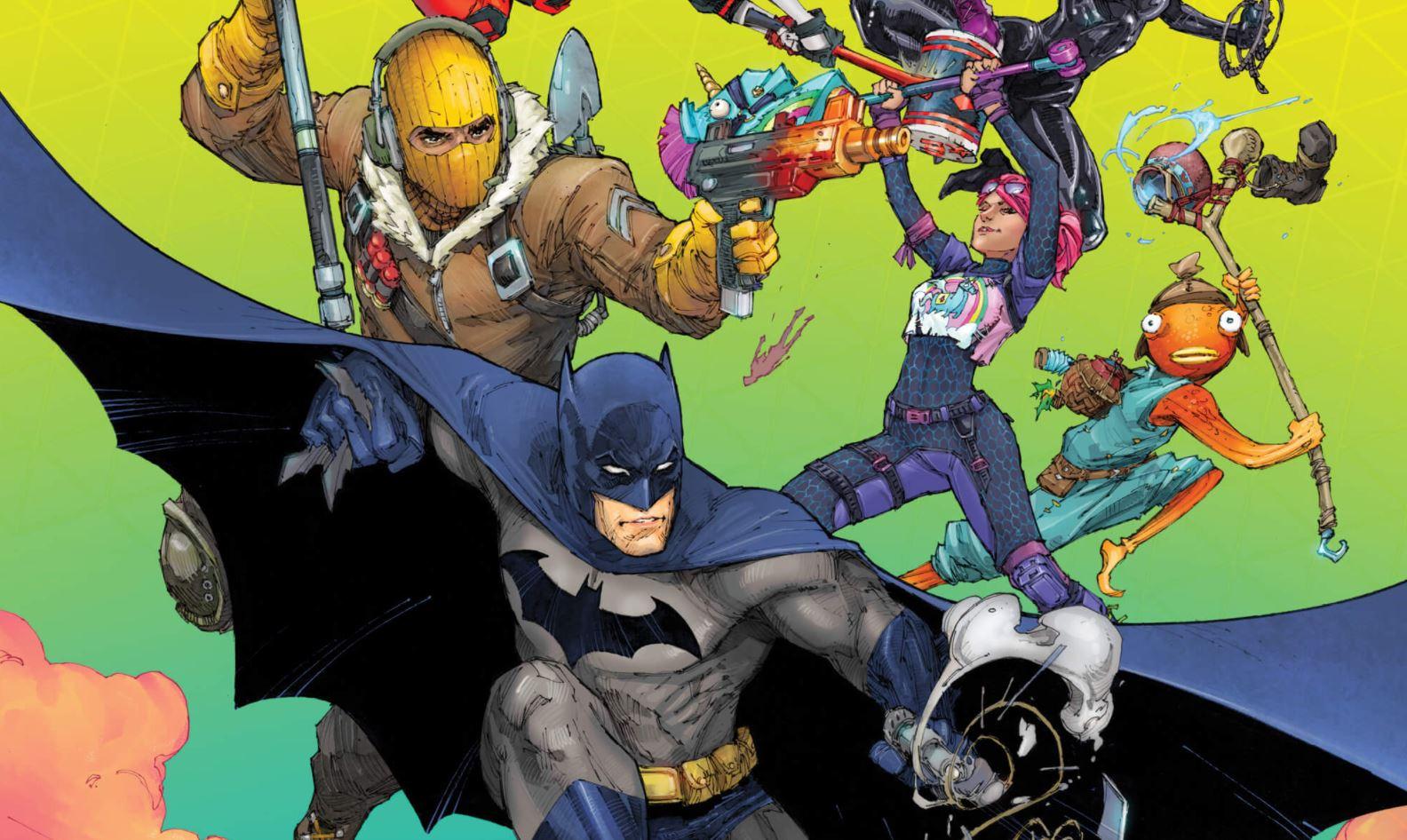 batman fortnite crossover cómic harley quinn renacimiento punto cero