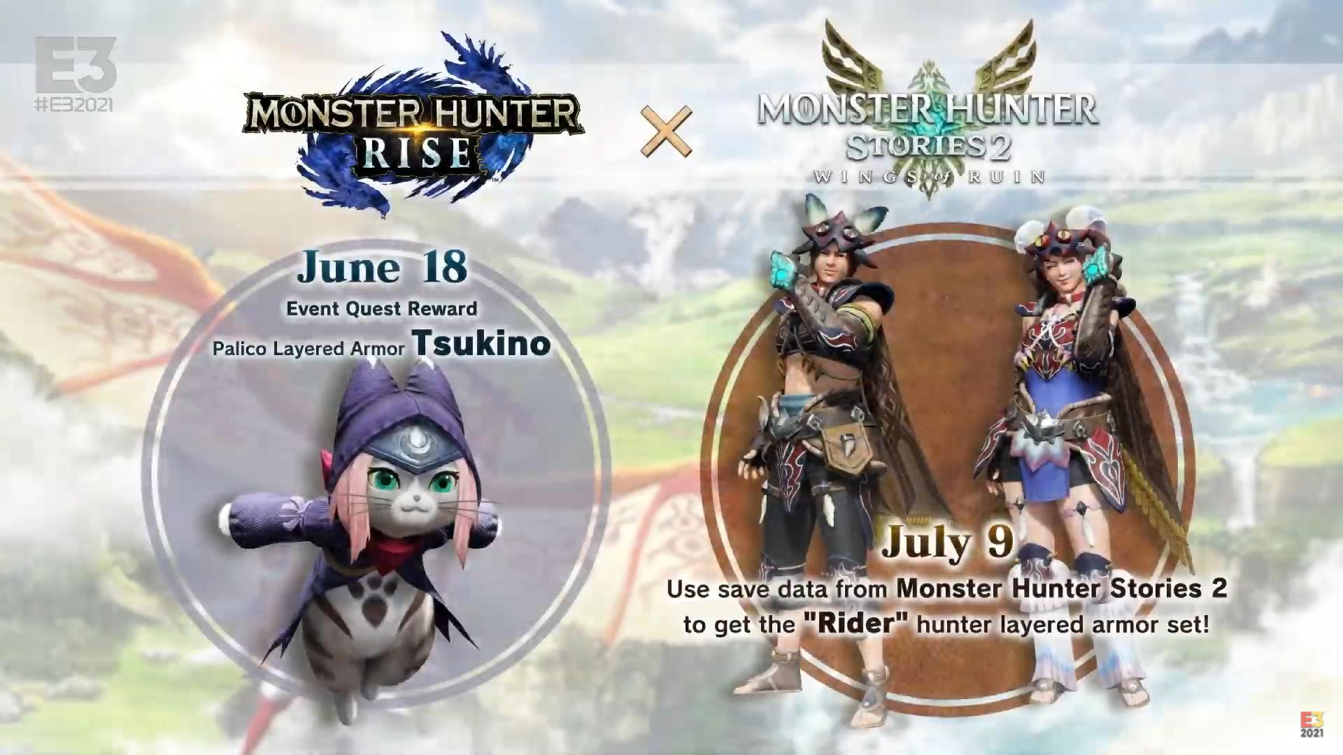 E3 2021: Tsukino y la actualización 3.1 (junio) de Monster Hunter Rise