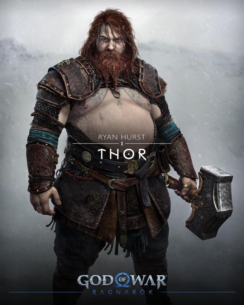 Los nuevos dioses y seres de la mitología nórdica en God of War Ragnarok Durlin Thor Tyr Angrboda